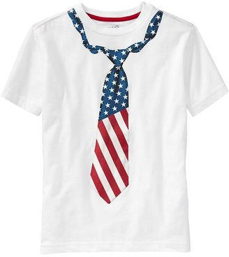 Old Navy Boys Flag-Graphic Tees