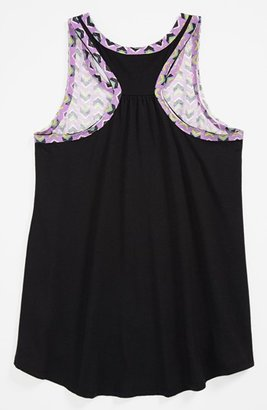 Roxy 'Wave Watch' Sleeveless Top (Big Girls) Wild Orchid Pattern Small