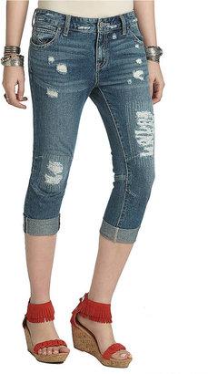 Free People Cropped Denim Boyfriend Jeans