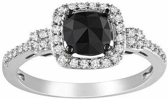 Black Diamond MODERN BRIDE Midnight 1 CT. T.W. Black & White Diamond 14K White Gold Bridal Ring