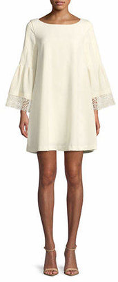 Laundry by Shelli Segal Lace-Trimmed A-Line Dress