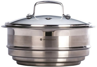 Le Creuset Tri-Ply Stainless-Steel Steamer Insert with Lid, 2-3/4 quart