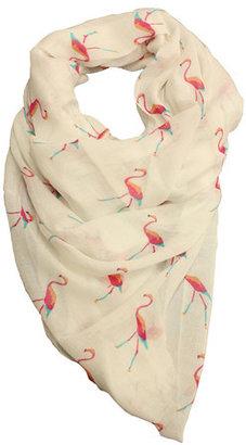 Printed Village Flamingo Scarf
