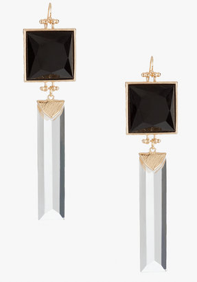 Bebe Faceted Stone & Lucite Linear Earring
