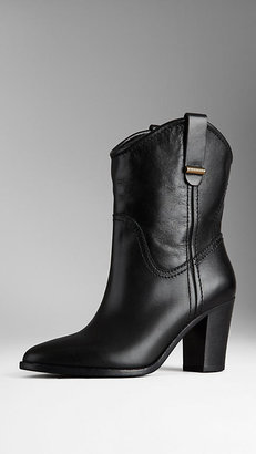 Burberry Almond Toe Leather Boots