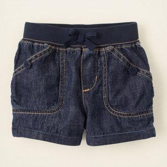 Children's Place Knit waistband denim shorts