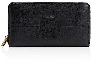 Tory Burch Stacked T Zip Continental Wallet
