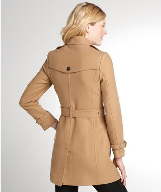 Burberry Camel Wool Blend Trench Coat