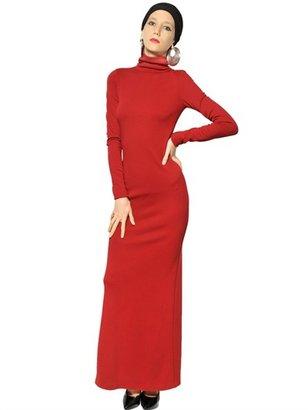 Jean Paul Gaultier Wool Punto Milano Long Dress