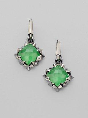 Stephen Webster Green Jade & Darkened Sterling Silver Earrings