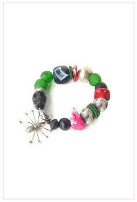 The Woods Spider Diamond Charm and Mix Bead Bracelet