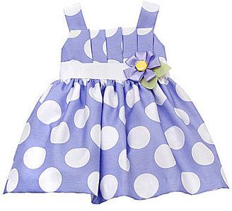 Rare Editions Newborn Sleeveless Dotted Dress