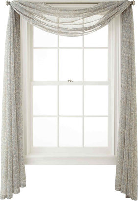 MARTHA STEWART MarthaWindowTM Calais Paisley Sheer Scarf Valance $80 thestylecure.com