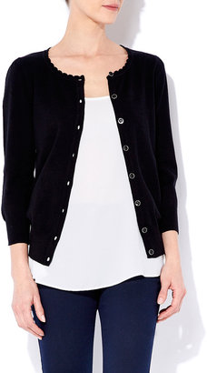 Wallis Black Scallop Trim Cardigan