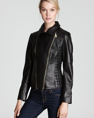 Via Spiga Rachele Leather Jacket with Quilting
