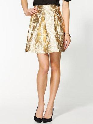 Pim + Larkin Jacquard Metallic Skirt