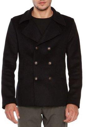 Tomas Maier Wool-Blend Pea Coat, Black $725 thestylecure.com