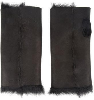Karl Donoghue Shearling fingerless gloves