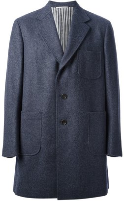 Thom Browne patch pocket sack over coat