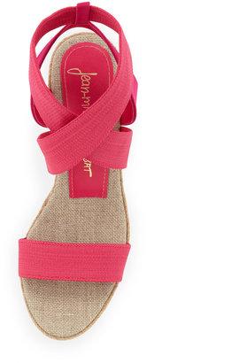 Jean-Michel Cazabat Claudia Elastic Wedge Sandal, Pink