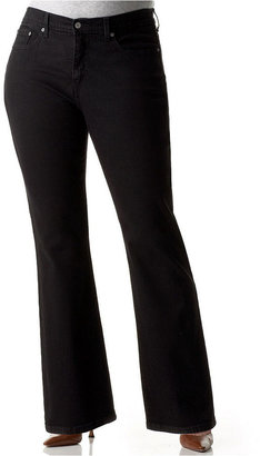 Levi's Plus Size 512 Perfectly Shaping Tummy Control Bootcut Jeans, Black Wash