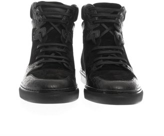 Balenciaga Leather and suede high-top trainers