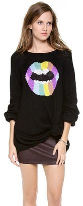 Wildfox Couture Psychedelic Lips Sweater