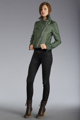 UGG Women's W Dipped Leather Moto Jacket