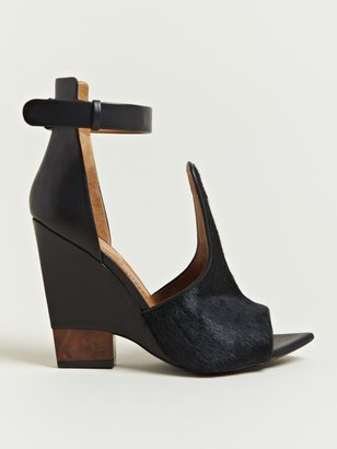 Givenchy Women's Calf Hair Ankle Strap Wedges