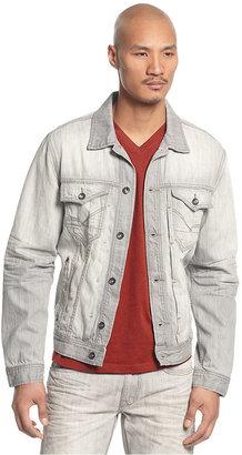 Rocawear Jacket, New Grey Button Front Denim Jacket