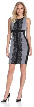 Jax Women's Bodycon Jersey Dress With Lace Detail