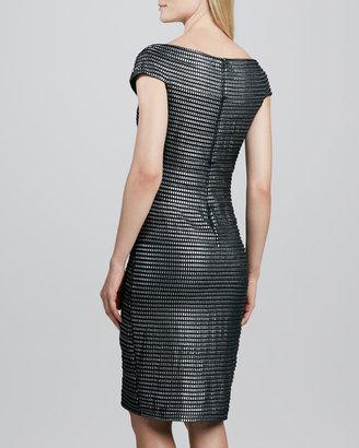 Tadashi Shoji Stud-Patterned Cocktail Dress