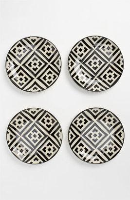 Black & White Dessert Plates (Set of 4) One Size