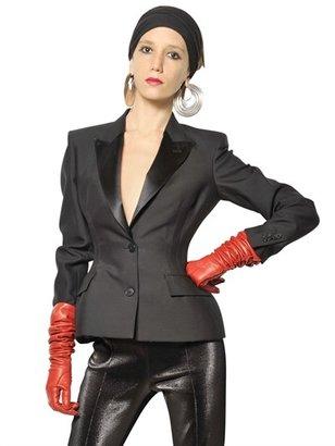 Jean Paul Gaultier Satin And Wool Taffeta Jacket