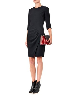 L'Agence Pleated crepe dress
