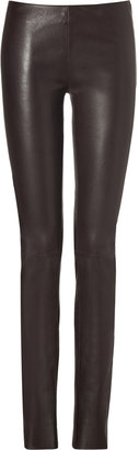 Jitrois Stretch Leather Leggings in Brown