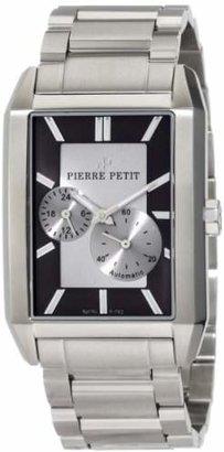 Pierre Petit Men's P-782C Serie Paris Automatic Rectangular Stainless-Steel Bracelet Watch