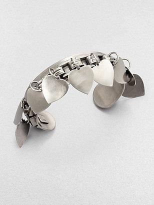 Dannijo Heart Charm Cuff Bracelet