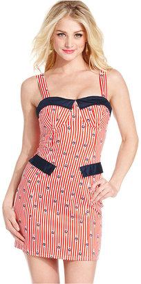 Monroe Marilyn Juniors Dress, Sleeveless Printed