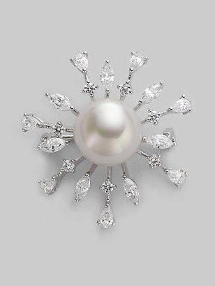 Majorica 14MM White Pearl Starburst Pin