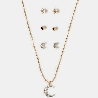 American Eagle AEO Gemstone Necklace & Stud Set