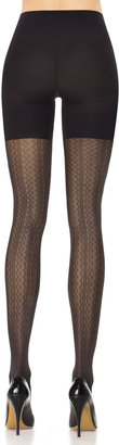 Spanx Patterned Tights Vertical Zigzag