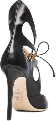 Alejandro Ingelmo Mariposa Calfskin Leather Booties in Black