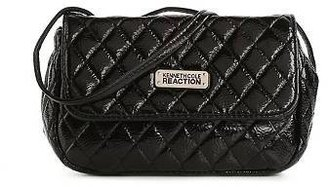Kenneth Cole Reaction Patent Quilted Mini Cross Body Bag