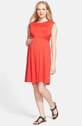Maternal America 'Empire Cascade' Maternity Dress