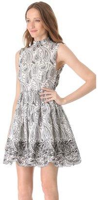 Alice + Olivia Sleeveless Flare Dress