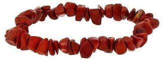 SilverSpeck.com Sterling Silver .925 Genuine Red Jasper Stone Chip Stretch Bracelet