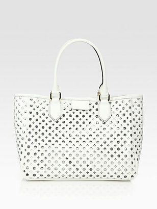 Milly Addison Lasercut Leather Tote