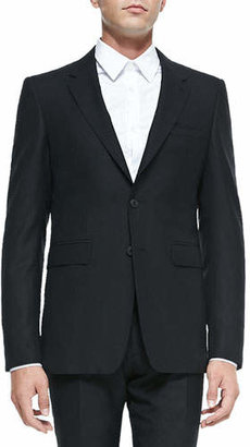 Burberry Modern-Fit Wool Suit, Black