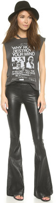 Blank Faux Leather Flare Pants
